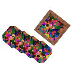 Amy Sia Rainbow Spot Coaster Set | DENY Designs Home Accessories