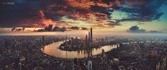 Shanghai People's Republic of China. Photographer: Black Station [1920 x 821 pixels]