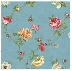 blue background floral