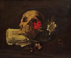 Carl Eduard Schuch (1846 - 1903) - Still life with skull