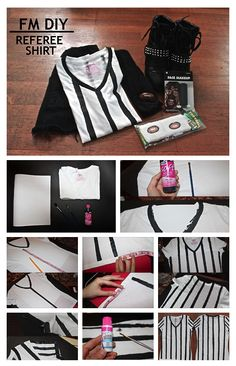 DIY Referee Shirt! Perfect for this upcoming Super Bowl game.