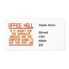 Office Hell - Stay or Quit Label