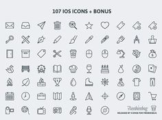 Free Download 107 Psd Icons For Ios