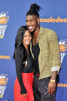 Proud parents: Singer Teyana Taylor and Cleveland Cavaliers player Iman Shumpert have welcomed their first child, a baby girl they named Iman Tayla Shumpert Jr