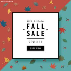 red green mint fall season leaves sale 레드 그린 민트 가을 계절 낙엽 세일 할인 Pop Design, Flyer Design, Event Design, Event Banner, Web Banner, Fall Banner, Promotional Design, Event Page, Instagram Design