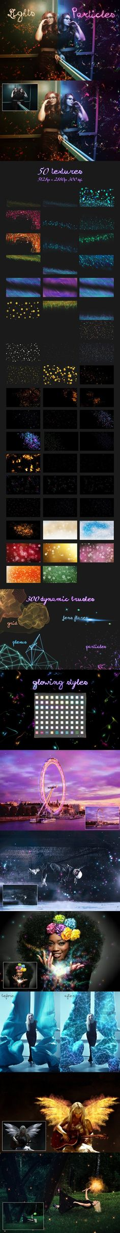 Lights & Particles - Photoshop Pack. Photoshop Brushes. $25.00