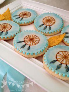 handpainted dreamcatcher cookies