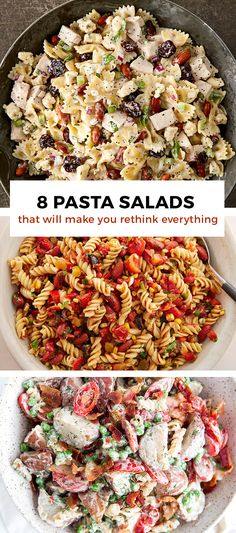 Before you settle for sad, deli-counter pasta salad, consider one of these stunners: Mexican pasta-stuffed shells, cold couscous pasta salad or turkey, cherry and almond pasta salad.