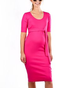 Love this Madeleine Berry Belted Maternity Etoile Dress on #zulily! #zulilyfinds