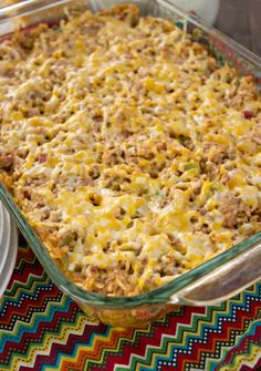 Cheesy Mexican Beef and Rice Casserole