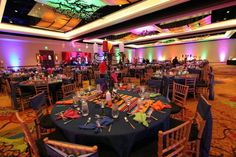 Room shot of the fiesta, lighting, colorful, theme