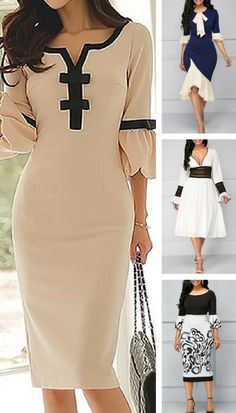 Flare sleeve dresses for women at Rosewe.com, free shipping worldwide, check them out.
