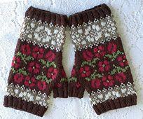 Ravelry: Hungarian Rose Fingerless Mittens pattern by Karen Porter