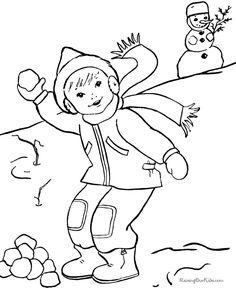 ausmalbilder winter - ausmalbilder für kinder
