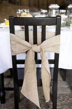 Come apparecchiare la tavola rustica - Fiocco per sedie