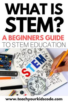 What is STEM? This is your ultimate guide to STEM education. We'll review what STEM means and how you can use STEM activities to teach kids critical thinking skills across the curriculum. Packed with ideas for a super fun STEM classroom. Learn why a foundation in STEM education is essential for teaching kids in today's classroom #STEM #education #STEMactivities