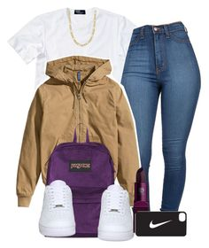 """Untitled #434"" by mufassa ❤ liked on Polyvore featuring Polo Ralph Lauren, H&M, Fremada, JanSport, NIKE and Lipstick Queen"
