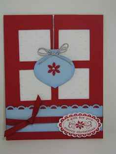 Denise's Workshop: Christmas Ornament Window Card