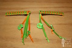 Must make some of these retro 80's ribbon barrettes for my girl! Hmmm, how to make them unique?