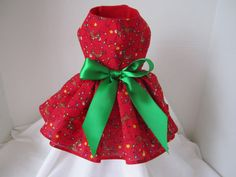 Dog Dress  XS  Red  Mommies Choice  By by NinasCoutureCloset, $15.00