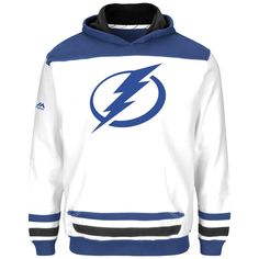 Tampa Bay Lightning Majestic Youth Double Minor Hoodie - White - $39.99