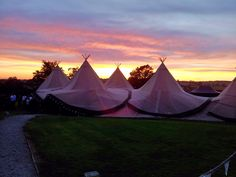 A beautiful red sky at night backdrop for our magnificent tipis #tipis #teepees #tipiwedding #teepeewedding #midlands #tipihire #derbyshire #marquee #peaktipis #outdoorwedding