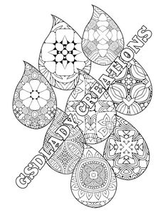 rain drops conceptual art coloring page geometric pattern coloring sheet for grown ups printable digital