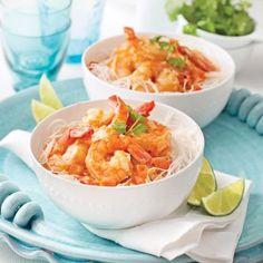 Chouchou de la cuisine thaï, le cari est rapide et très simple à préparer! Mets, Fish And Seafood, Seafood Recipes, Potato Salad, Macaroni And Cheese, Shrimp, Curry, Ethnic Recipes, Nutrition