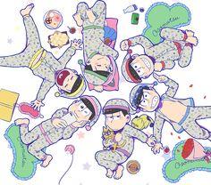 『おそ松さん』より、おそ松・カラ松・チョロ松・一松・十四松・トド松モデルのパジャマが登場!ルームウェアとして大活躍なこのパジャマ☆描き下ろしイラスト付きでとってもキュート!
