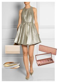 """""""Gold"""" by ehiga ❤ liked on Polyvore featuring Alice + Olivia and Urban Decay"""