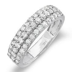 1.15 Carat (ctw) 14k White Gold Round Diamond Ladies Anniversary Wedding Band Ring DazzlingRock Collection. $789.00. Diamond Color / Clarity : H-I / I1-I2. Gemstone : Diamond. Diamond Weight : 1.15 ct tw.. Crafted in 14K white-gold. Weighs approximately 4.00 grams. Save 71%!