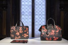 New flower pattern for the luxury travel collection of #Bertoni1949 #AW1617 #NewCollection