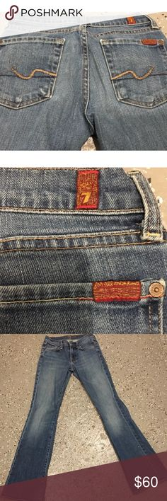 SEVEN FOR ALL MANKIND WOMENS JEANS SIZE 24 AUTHENTIC SEVEN FOR ALL MANKIND WOMENS JEANS SIZE 24  WORN A HANDFUL OF TIMES IN GOOD CONDITION! COMES FROM SMOKE FREE & PET FREE HOME. PLEASE FEEL FREE TO SEND BEST OFFERS IF INTERESTED. PRICES ARE ALWAYS NEGOTIABLE !! 7 For All Mankind Jeans