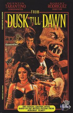 From Dusk Till Dawn novelization Dawn Images, Dawn Pictures, Movie Poster Art, Horror Movie Posters, Horror Movies, Film Posters, Quentin Tarantino, 90s Movies, Good Movies