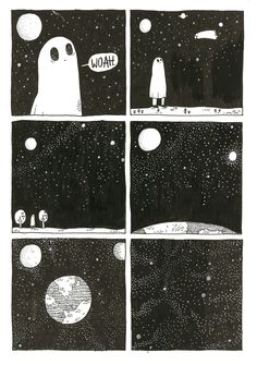 My fella sketched out this SGC comic, when I asked him what made him sad he said 'space'