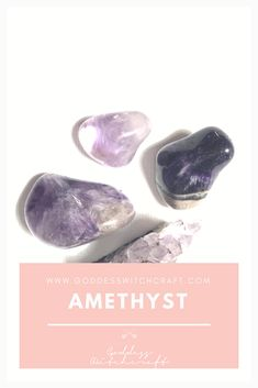 Amethyst is a transparent purple crystal. It's native to America, Britain, Brazil, India, Sri Lanka, Uruguay, Canada, Mexico, Russia, Siberia and East Africa. It's one of the most commonly found and used crystals in modern times.  https://goddesswitchcraft.com/amethyst/?utm_campaign=coschedule&utm_source=pinterest&utm_medium=Belinda%20Jacobson&utm_content=The%20Best%20Use%20for%20Amethyst%20%7C%20The%20Goddess%20Witchcraft%20Crystal%20Guide