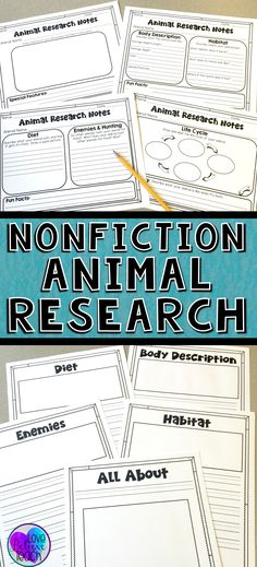 """Animal research reports are a snap to plan and implement with this writing unit.  The nonfiction unit is full of graphic organizers, a step-by-step guide, and many options to help you differentiate materials to meet the needs of your students.  It's a perfect """"All About"""" project and your students will love working on it during Writing Workshop.  Click to find out more!"""