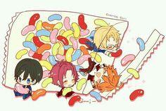 jelly bean, Trick Stars Anime Neko, Kawaii Anime, Anime Art, Chibi Boy, Cute Chibi, Cute Anime Boy, Anime Guys, Elegant Words, Ensemble Stars