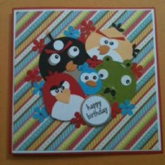 Angry bird card that I made for my friends birthday....