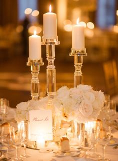 photographer: Rebecca Yale Photography; Wedding reception centerpiece idea;