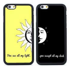 2pcs You are My Sun and Moon BFF Rubber Case for iPhone 4 5S SE 5C 6 6S Plus 7 #UnbrandedGeneric