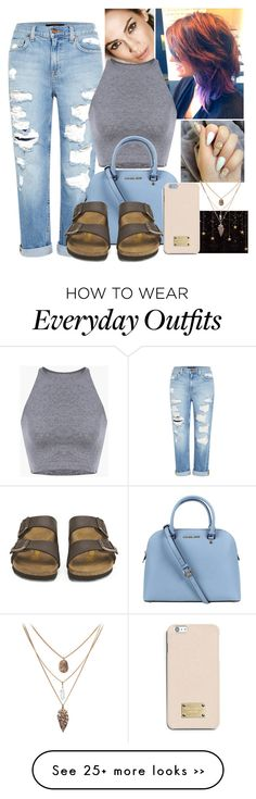 """""""Outfit inspired by my beautiful Cuz,everyday"""" by musiclslife713-hi on Polyvore featuring Genetic Denim, Michael Kors, Birkenstock and MICHAEL Michael Kors"""