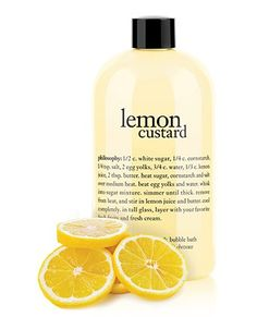 give yourself a creamy lemon-scented lift.