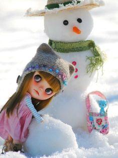 Blythe , snow time!!!  ◉◡◉