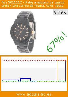 Fizz 5011112 - Reloj analógico de cuarzo unisex con correa de resina, color negro (Reloj). Baja 67%! Precio actual 8,79 €, el precio anterior fue de 26,70 €. http://www.adquisitio.es/fizz/5011112-reloj-anal%C3%B3gico