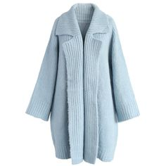 Chicwish Someone Knit You Longline Cardigan in Sky Blue (4.180 RUB) ❤ liked  on d4c262a42b9