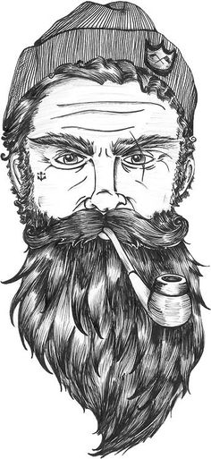 Ties beard art, awesome beards, beard quotes, beard life, beards and hai. Bart Tattoo, Maritime Tattoo, Tattoo Painting, Illustration Tumblr, Beard Quotes, Art Et Design, Beard Art, Desenho Tattoo, Beard Love
