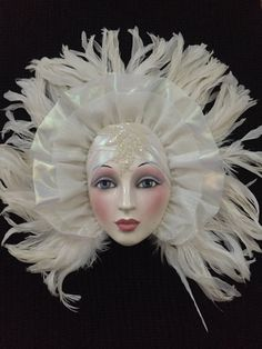 Hey, I found this really awesome Etsy listing at https://www.etsy.com/listing/280234380/vintage-woman-porcelain-mask-wall-decor