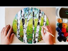 Как Нарисовать Очень Красивые Березы/ Лучшая Техника Для Детей/ Урок Рисования Поэтапно - YouTube