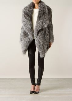 Yves Salomon Fur & shearling :: Yves Salomon grey fox fur coat | Montaigne Market